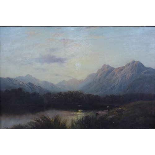 1 - George Cole (1810-1883), Near Dolgelly, North Wales, oil on canvas, 29 x 45cms, framed...