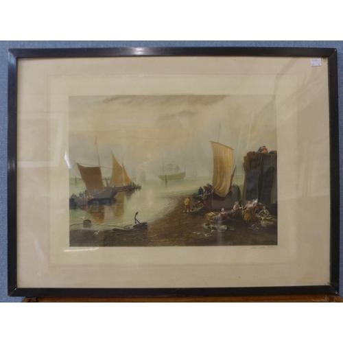 26 - John C. Witt, six signed Italian scene lithographs, framed...