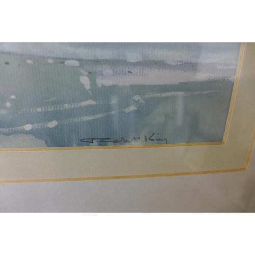 3 - J. Colin King, Woodbridge, After Rain, gouache, 30 x 49cms, framed...