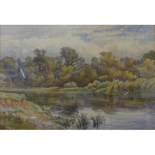 4 - William Wilde (1826-1901), River Trent at Beeston, Nottingham, watercolour, 33 x 48cms, framed, labe...