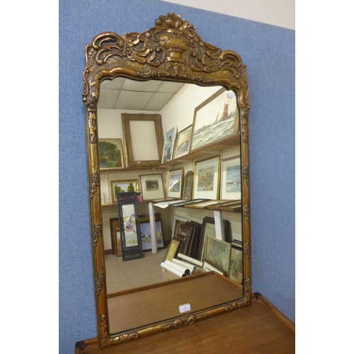 46 - A chinoiserie gilt framed mirror...