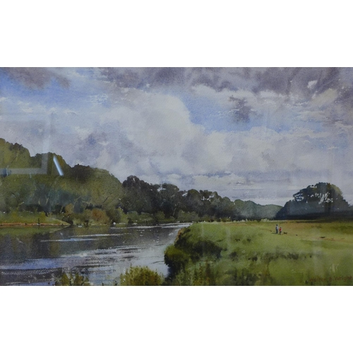 6 - Walter B. Wright, The Trent, Caythorpe, Nottingham, watercolour, 33 x 52cms, framed...