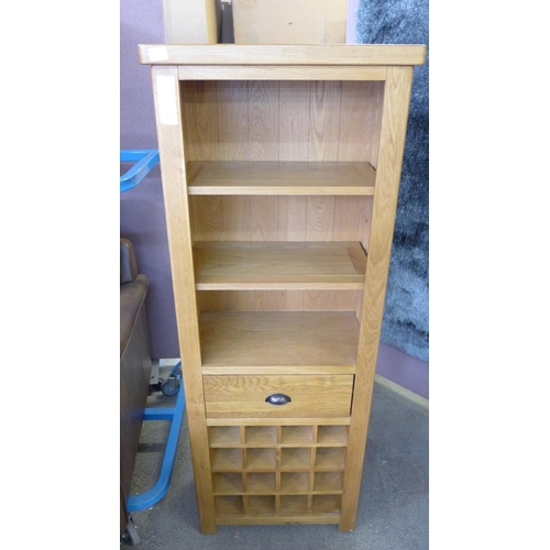 1414 - An oak bookcase with wine rack - PGBCW-O- boxed...
