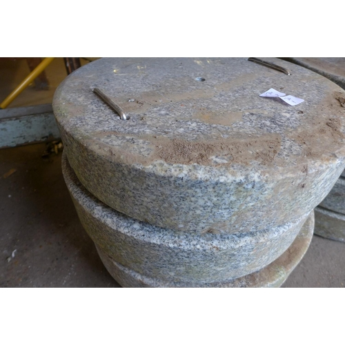 2013 - 2 Granite parasol bases *This lot is subject to vat...
