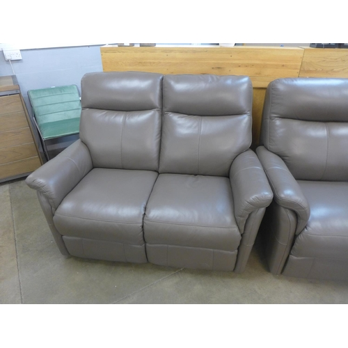 1311 - A Verona leather two seater Comfort Plus power reclining sofa (Mink)  *This lot is subject to vat...
