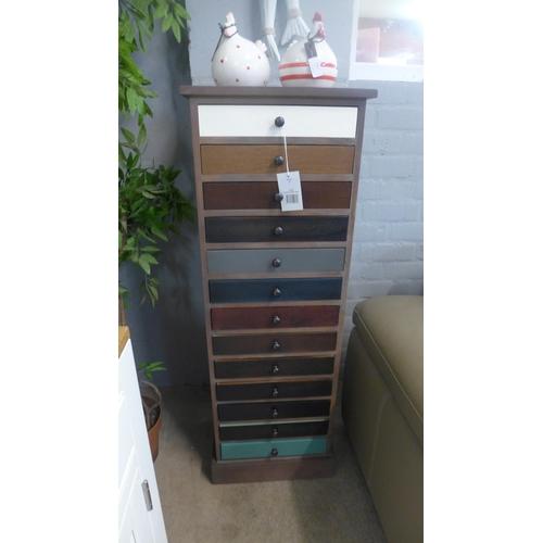 1332 - A multi-coloured thirteen drawer chest (76-09273)   #...