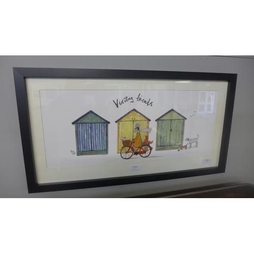 1334 - A framed print, Visiting Friends by Sam Toft, 30 x 60cm (PPFPPR41699G17)   #...