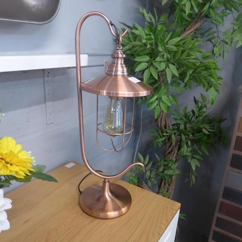1336 - A copper effect Edison table lantern (2133132)   #...