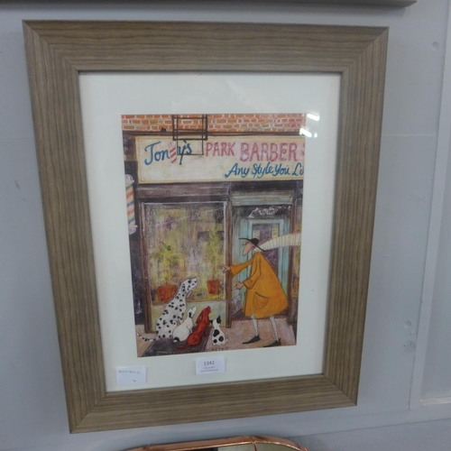 1342 - A framed print, The Barber Shop Quartet, by Sam Toft, 40 x 30cm (4463F15)   #...