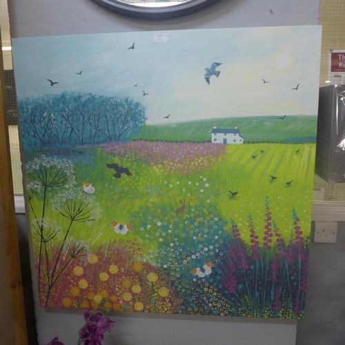 1375 - A canvas print, Mid Summer Meadow by Jo Grundy, 85 x 85cm (WDC9809925)   #...