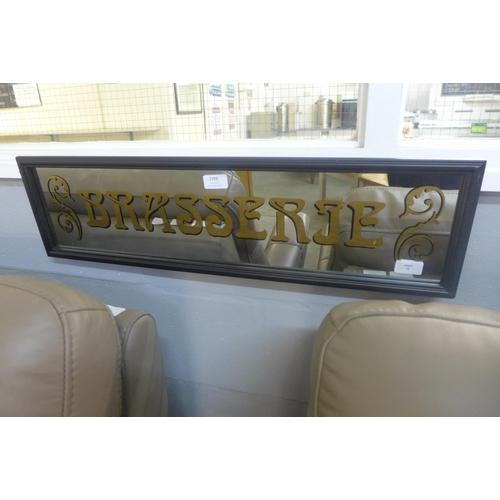 1398 - A Brasserie mirror sign (TJN032311)   #...