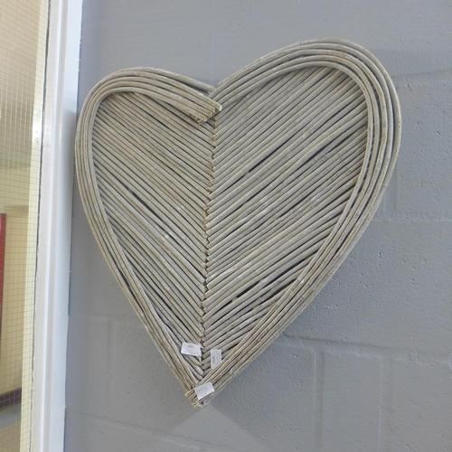 1402 - A wicker heart wall art feature (1873717)   #...
