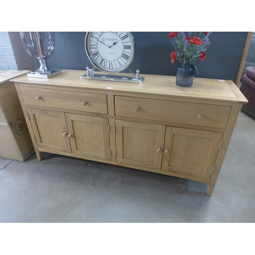1474 - A Malvern Shaker grey painted oak 4 door extra large sideboard   (EV29-88)  *This lot is subject to ...