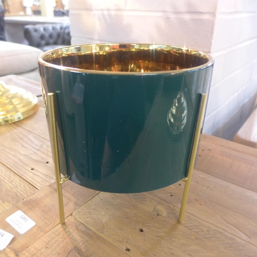 1494 - A retro style gilt lined planter (TJNK001913)   #...