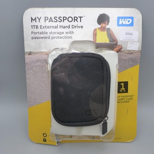 3006 - A My Passport 1TB hard drive  *This lot is subject to VAT...