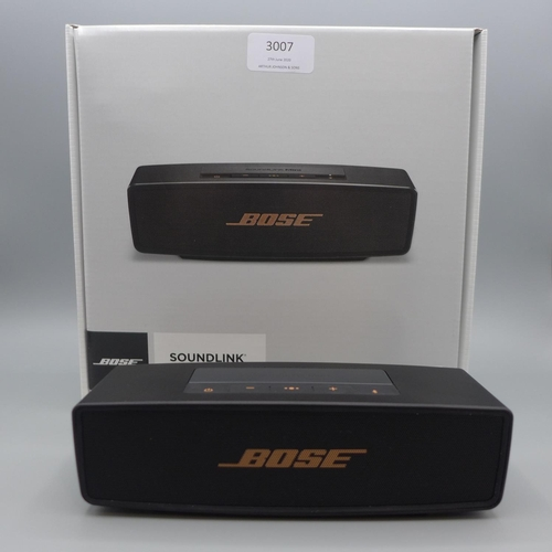 3007 - A Bose Soundlink Mini 2 wireless speaker *This lot is subject to VAT...