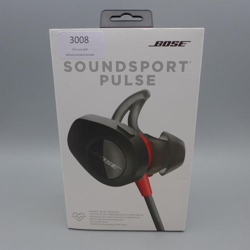 3008 - A pair of Bose Soundsport Pulse Headphones   (373)  (Ajs 187)  Rrp £114.99 + Vat * This Lot Is Subje...