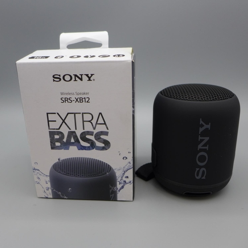 3017 - Sony Xb12 Wireless Speaker   (372)        (Ajs 187)  Rrp £26.99 + Vat * This Lot Is Subject To Vat...