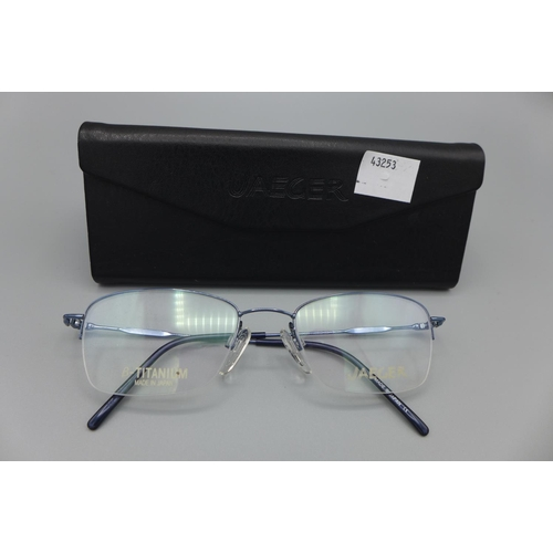 3023 - A pair of Jaeger 306 C16 53X19 F/F glasses  (229)  (Ajs 187)  Rrp £98.87 + Vat * This Lot Is Subject...