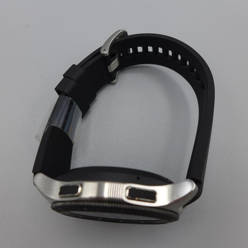3032 - A Samsung Galaxy 46mm Bluetooth/GPS smart watch with charging station and box  *This lot is subject ...