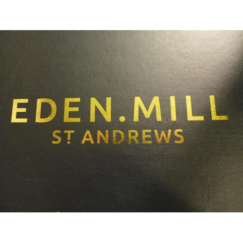 3037 - An Eden Mill St Andrews gift box (contains 12 x 5cl gins and 2 x tulip gin glasses), RRP £79.99 *Thi...