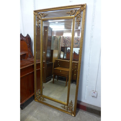 44 - A large French style framed gilt mirror, 183 x 92cms   (M33138)   #...