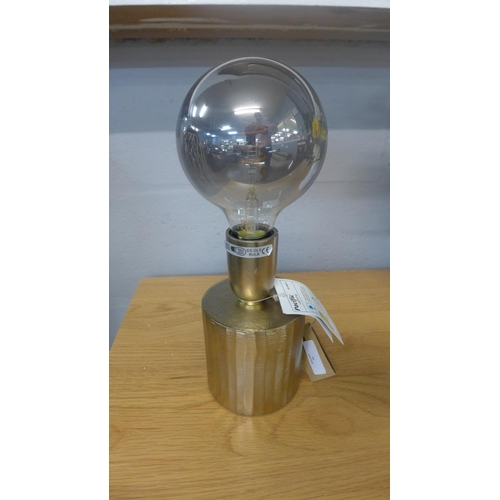 1355 - A gilt table lamp with LED titanium bulb (30-68932)   #...