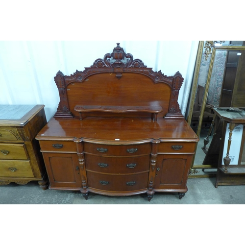 40 - A Victorian Lincolnshire stained pine dresser...