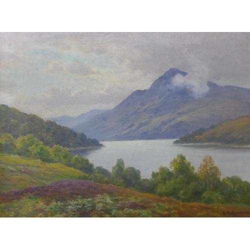 11 - Sid Gardner, pair of Lake District landscapes,  oil on canvas, 30 x 40cms, framed...