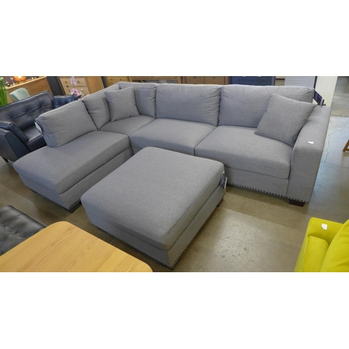 1301 - A Thomasville Artesia fabric LHF and ottoman, RRP £958.33 + VAT   * This lot is subject to VAT...