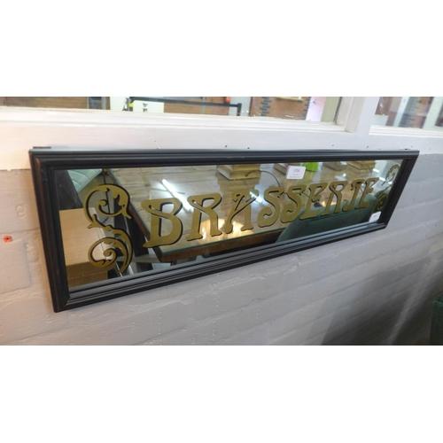 1356 - A Brasserie mirror sign (TJN032311)   #...