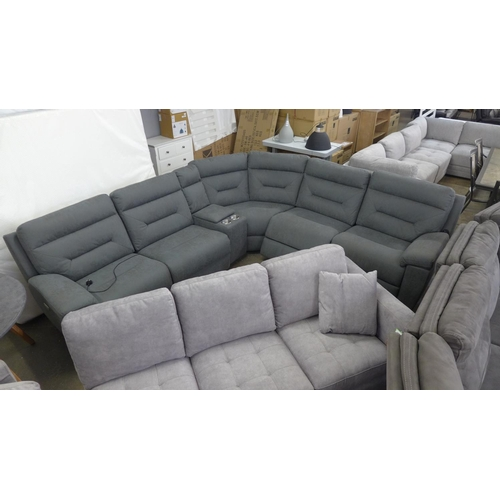 1746 - A Justin grey fabric reclining sectional sofa, RRP £1166.66 + VAT  * This lot is subject to VAT...