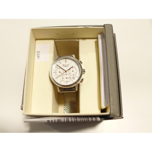 3022 - A Gant Lds Watch With Stainless Steel Bracelet   (192-37)  * This Lot Is Subject To Vat...