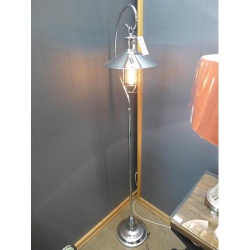 1490 - A chrome Edison floor lantern (2432456)   #...