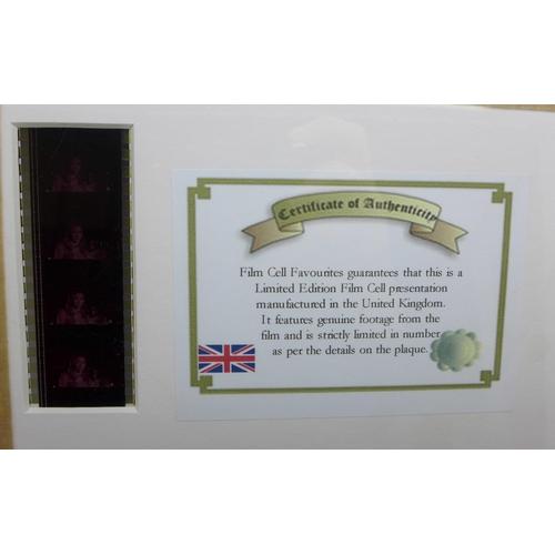 607 - A James Bond 007 On Her Majesty's Secret Service film cell, framed, with certificate...