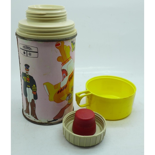 638 - A Beatles Yellow Submarine 1960's flask...