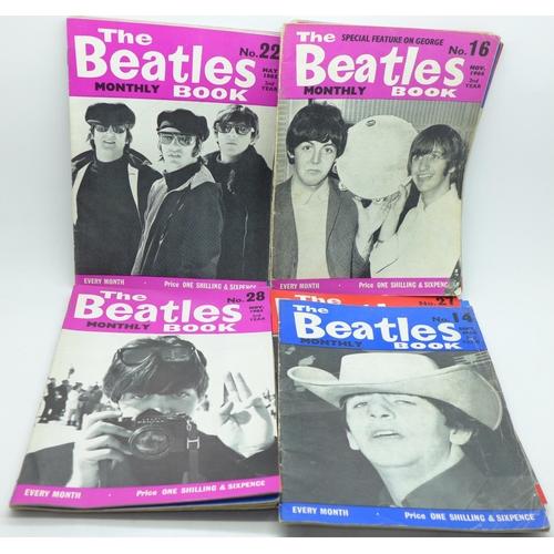 640 - 1960's Beatles Monthly magazines (19)...