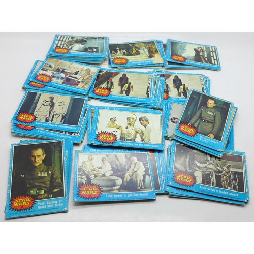643 - Star Wars original 1970's cards, some duplicates (127)...