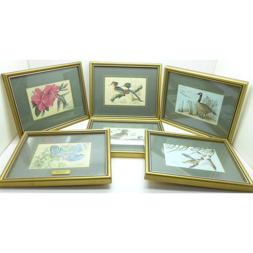 659 - Nine Cash's silk woven pictures, framed...