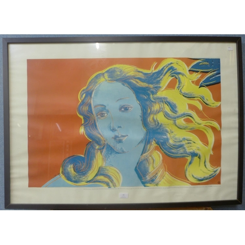 19 - An Andy Warhol screen print, 55cms x 84cms, framed...