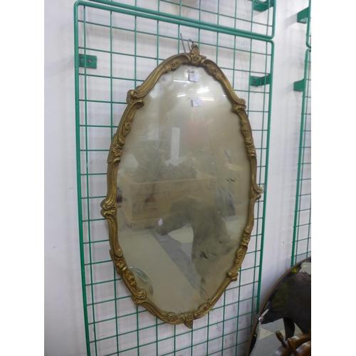 22 - Two gilt framed mirrors...
