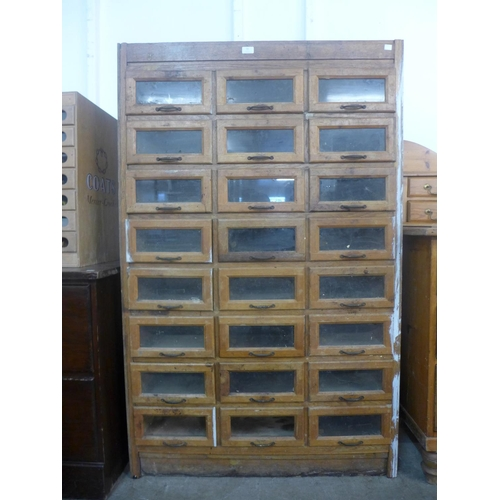 50 - A haberdashery shop cabinet...