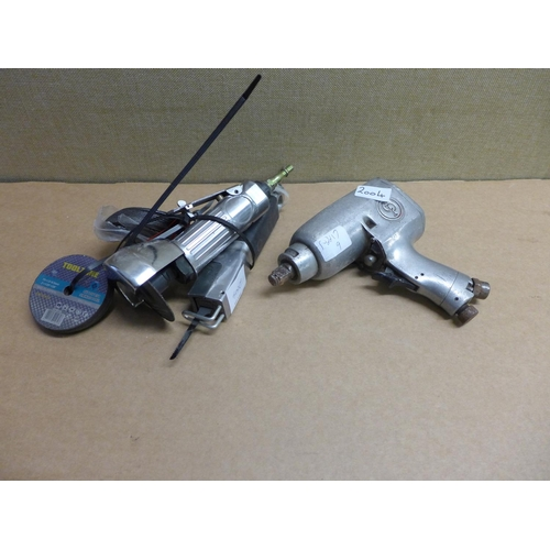 2004 - 2 Air tools - disc cutter & jigsaw - unused plus air wrench a/f...