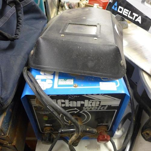 2005 - Clarkeweld 180E Arc welder with face shield...
