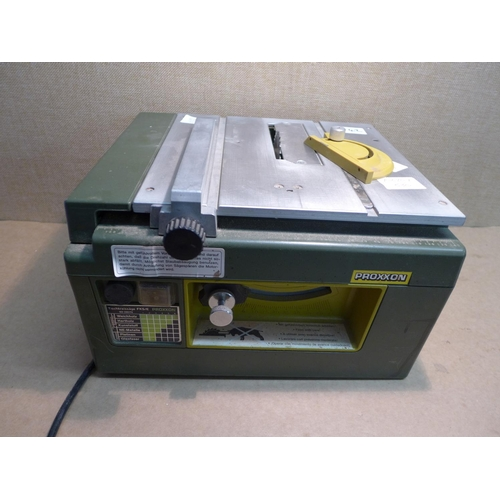 2042 - Proxxon FKS/E table saw with instruction manual...