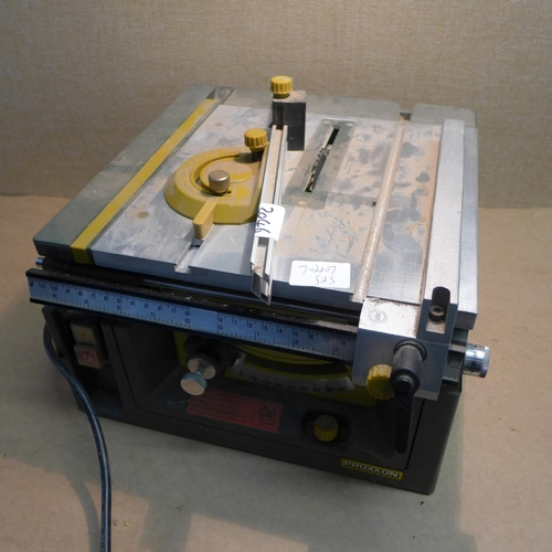 2046 - Proxxon Fet table saw with instruction manual...