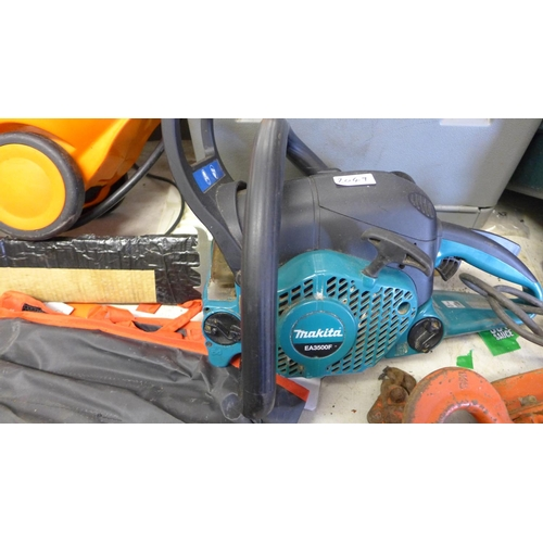 2049 - Makita petrol chainsaw - W - model no. EA3500F - new chain fitted - seen running - W...