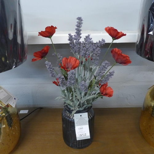 1360 - Wild poppies in a ribbed jar (54908106)   #...