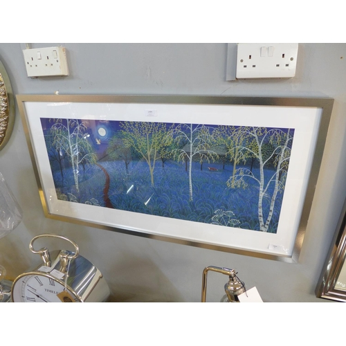 1484 - A framed print, Blue Moon by Jo Grundy, 50 x 100cm (PPR4117826) #...