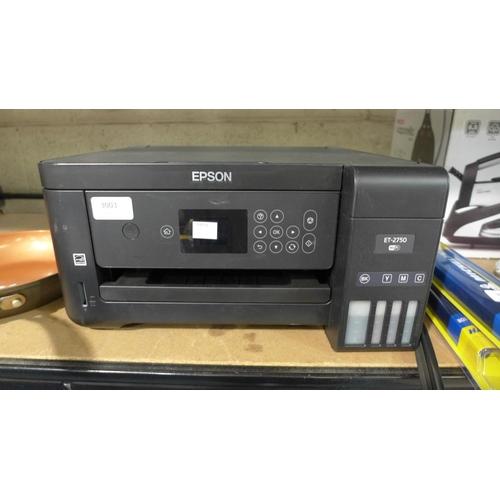 3003 - An Epson Ecotank Et-2750  Printer, no power cable, Rrp £169.99 + Vat    (193-25)   * This lot is sub...